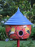 Ceramic goldfinch house