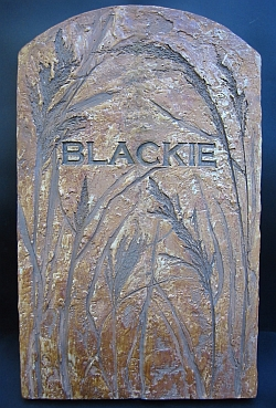 Blackie's tombstone