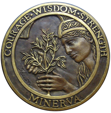 The Minerva Seal -- courage, wisdom, strength
