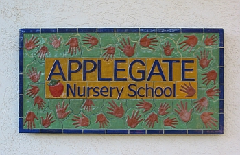 Applegate Nursery School sign