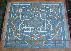 Tile rug, close-up view